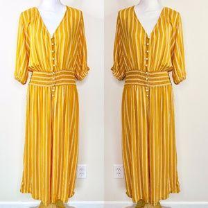 Pants - Unbranded Marigold Yellow Vertical Stripe Jumper